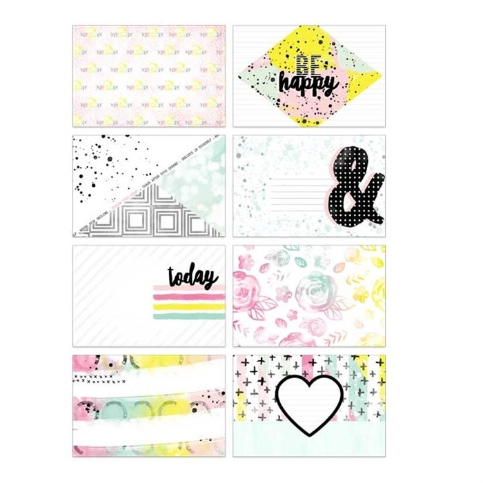 Pretty Little Studio Journaling Cards Be Happy  6 x 4