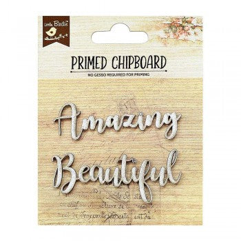 Little Birdie Chipboard Words - Amazing Beautiful - Scrap Of Your Life