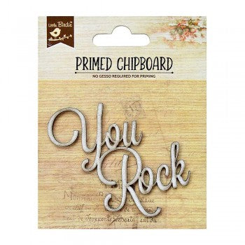 Little Birdie Chipboard Words - You Rock - Scrap Of Your Life