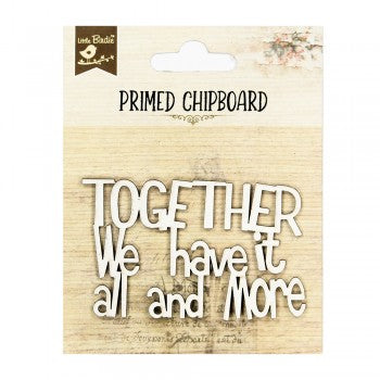 Little Birdie Chipboard Words - Together and More - Scrap Of Your Life