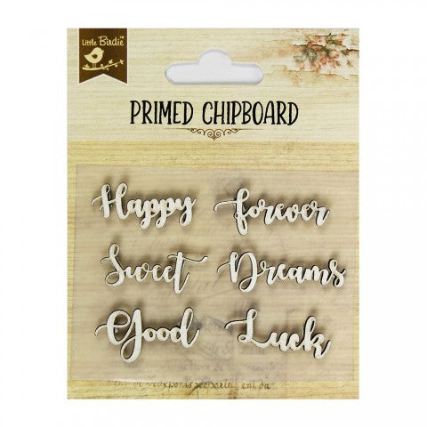 Little Birdie Chipboard Words - Good Luck - Scrap Of Your Life