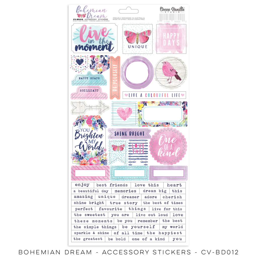 Coco Vanilla Studio Bohemian Dream - Accessory Stickers - Scrap Of Your Life