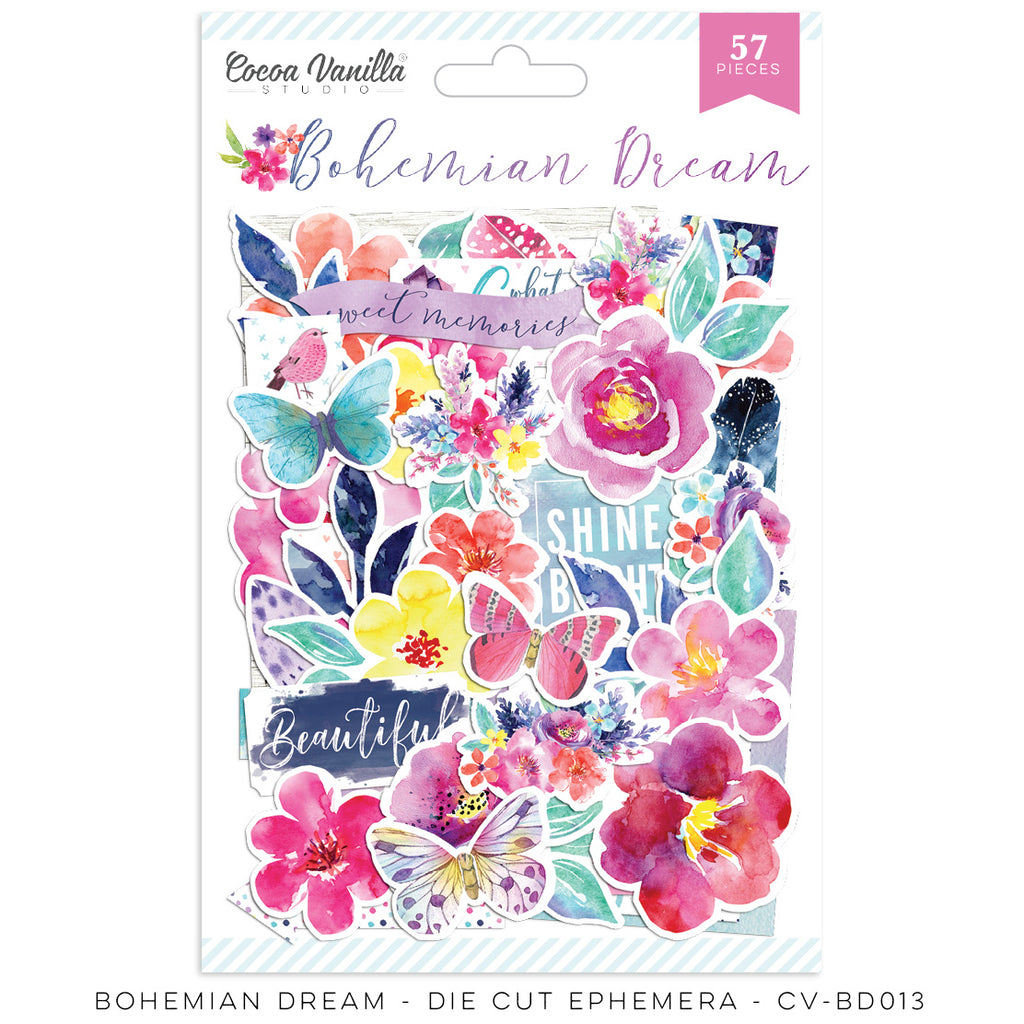 Coco Vanilla Studio 12 x 12 Paper Bohemian Dream - Vellum Accents - Scrap Of Your Life