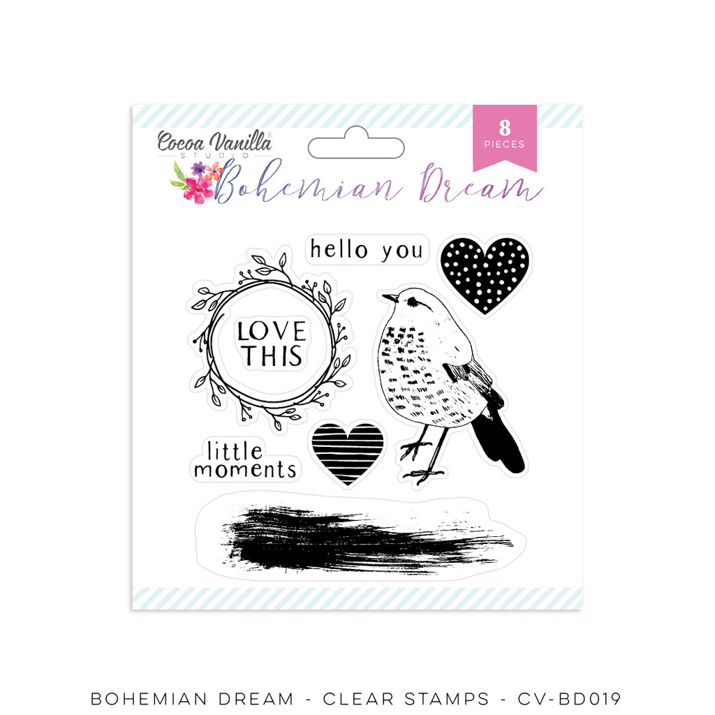 Cocoa Vanilla Studio Bohemian Dream Acrylic Stamps - Scrap Of Your Life