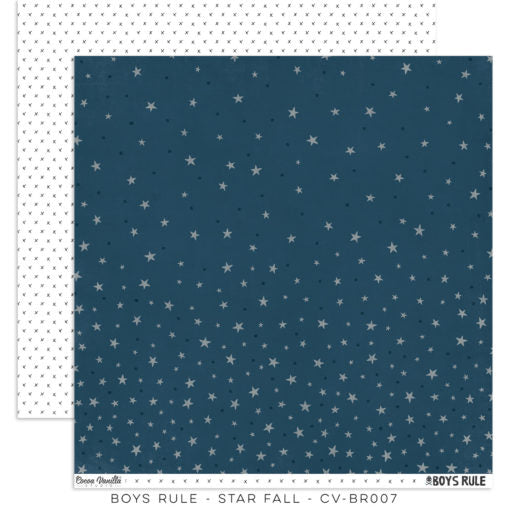 Cocoa Vanilla Studio Boys Rule 12 x 12 Paper - Star Fall - Scrap Of Your Life