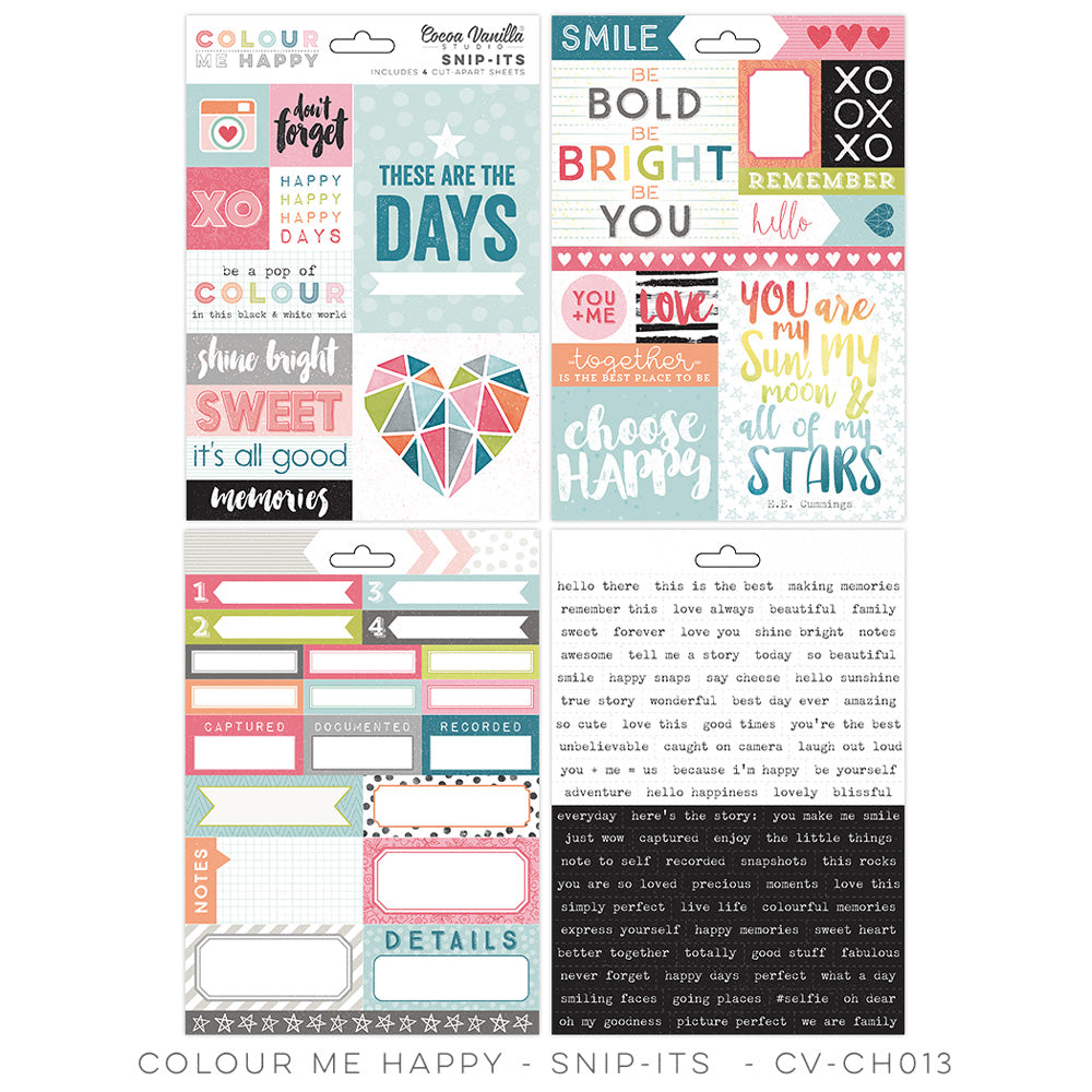 Coco Vanilla Studio  Colour Me Happy Snip Its - Scrap Of Your Life