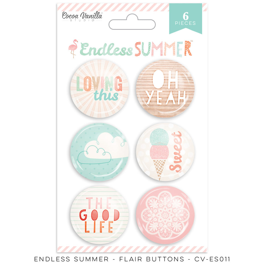 Cocoa Vanilla Designs Endless Summer Flair Badges - Scrap Of Your Life