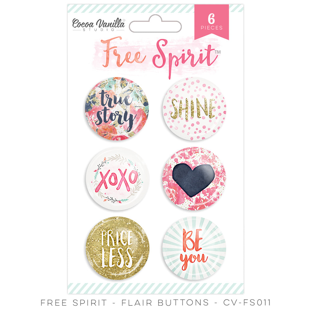 Cocoa Vanilla Designs Free Spirit Flair Badges - Scrap Of Your Life