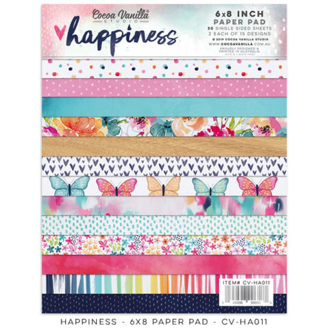 Cocoa Vanilla Designs Happiness 6 x 8 Paper Pad - Scrap Of Your Life