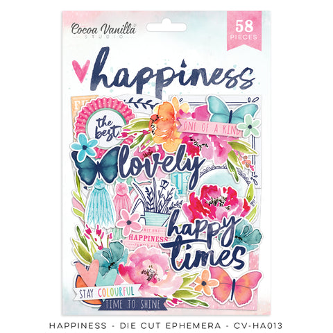 Cocoa Vanilla Designs Happiness Diecuts - Scrap Of Your Life