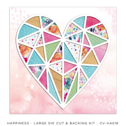 Cocoa Vanilla Designs Happiness Die Cut and Backing Sheet - Scrap Of Your Life