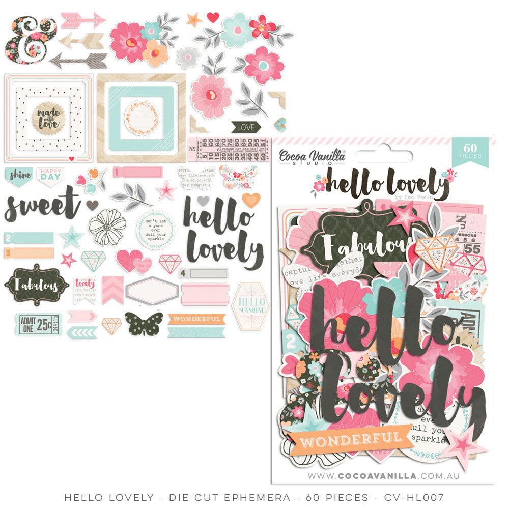 Cocoa Vanilla Studio - Hello Lovely Ephemera - Scrap Of Your Life