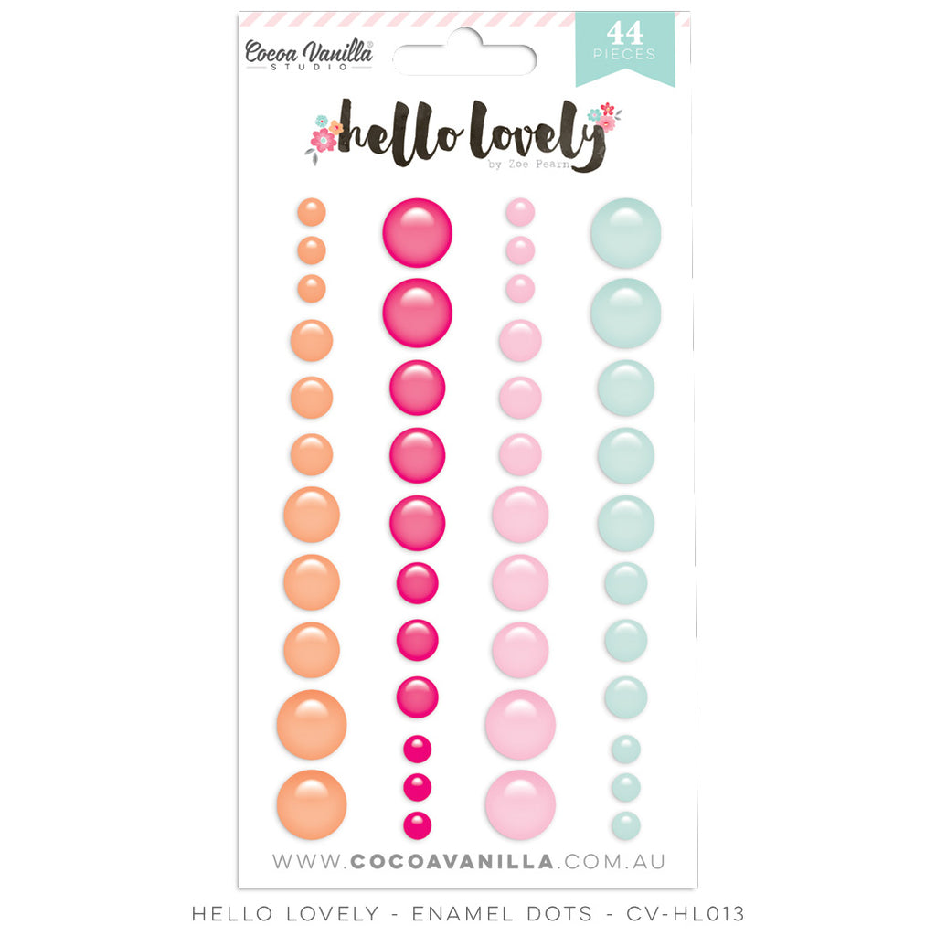 Cocoa Vanilla Designs Hello Lovely Enamel Shapes - Scrap Of Your Life