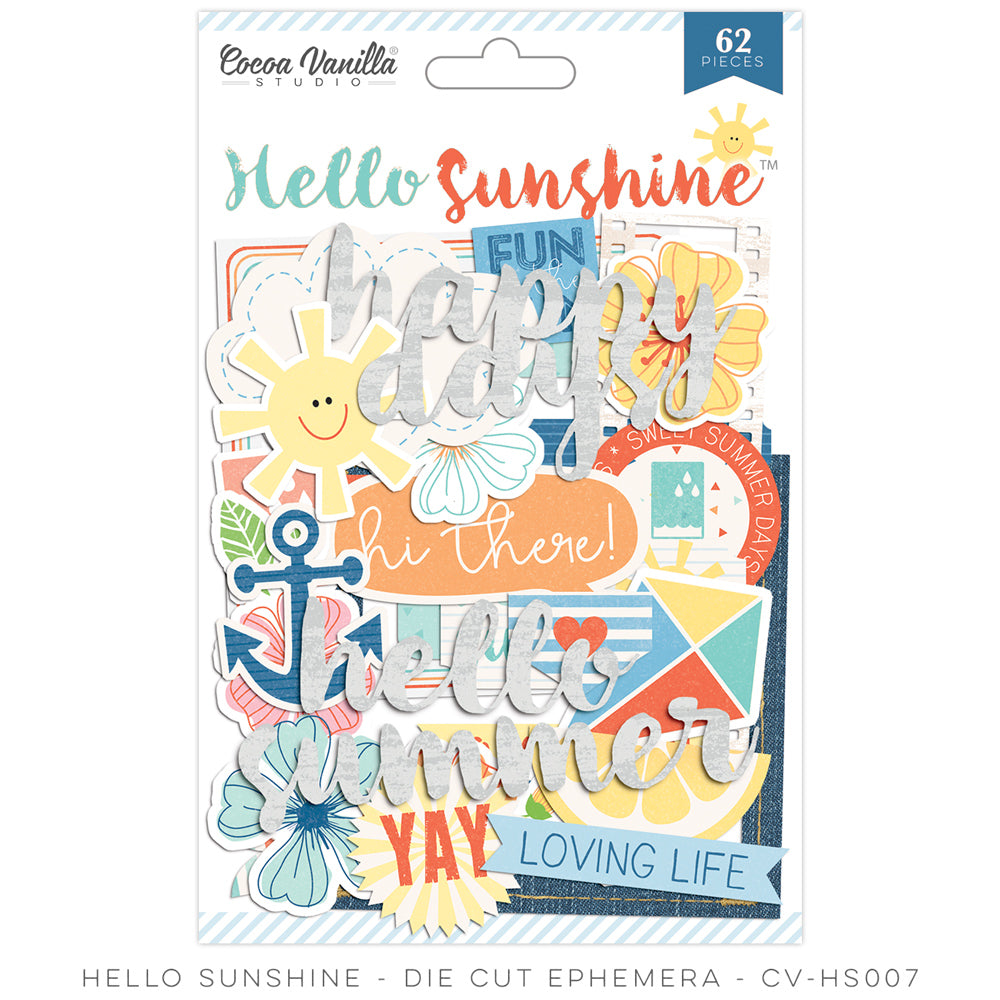 Cocoa Vanilla Designs Hello Sunshine Ephemera