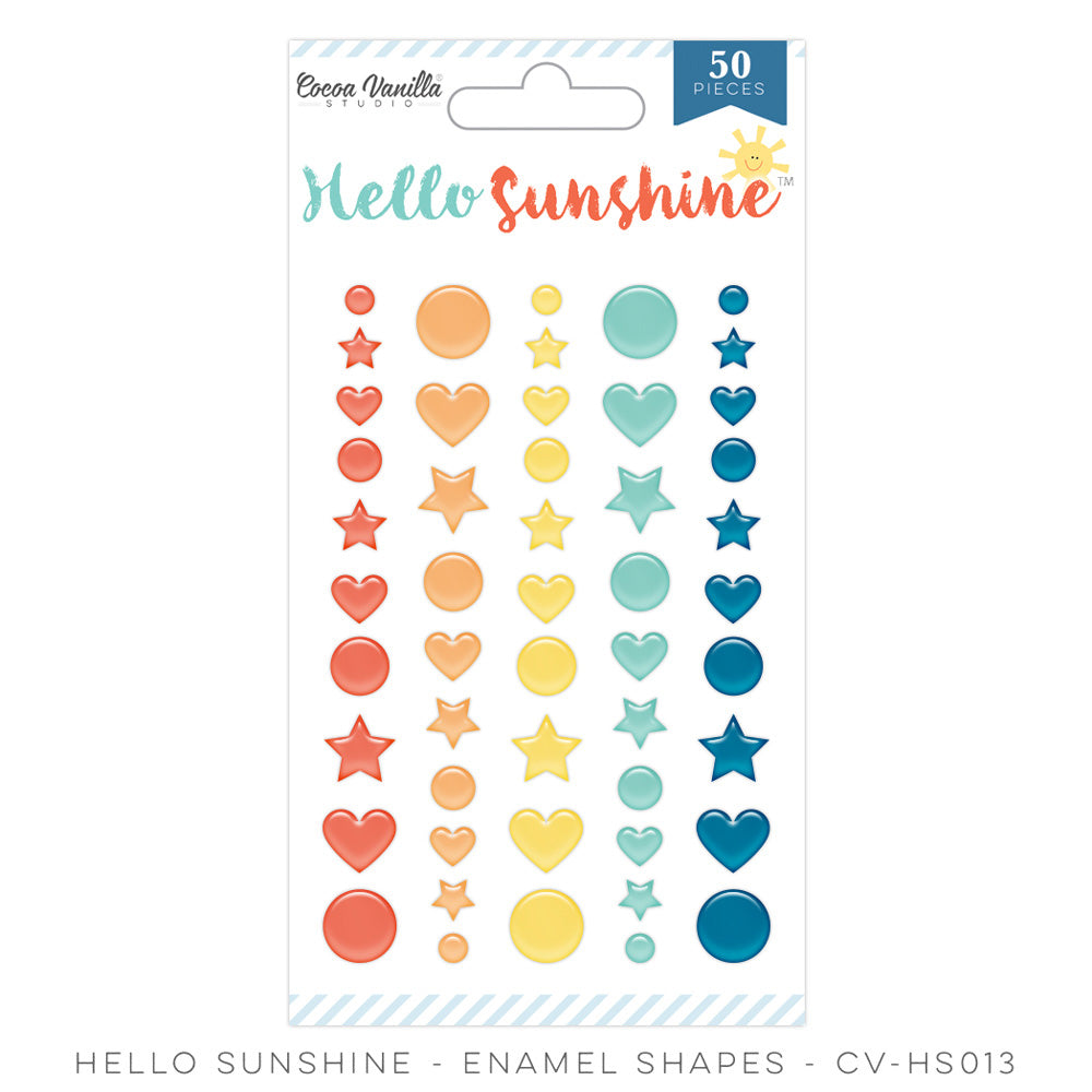 Cocoa Vanilla Designs Hello Sunshine Enamel Shapes