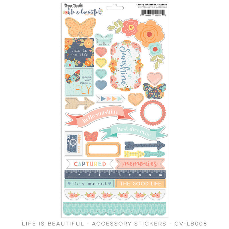 Coco Vanilla Studio  Life is Beautiful Accessory Stickers - Scrap Of Your Life