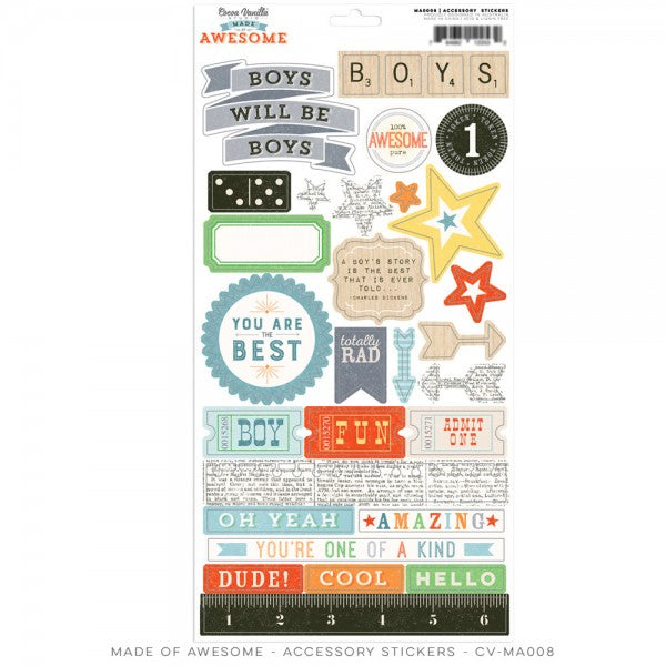 Cocoa Vanilla Designs Made of Awesome Accessory Stickers - Scrap Of Your Life