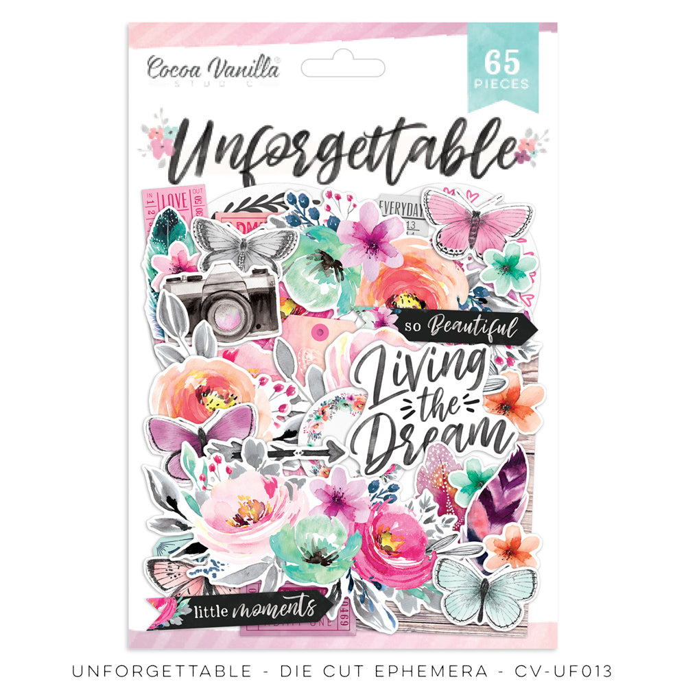 Cocoa Vanilla Studio - Unforgettable - Ephemera - Scrap Of Your Life