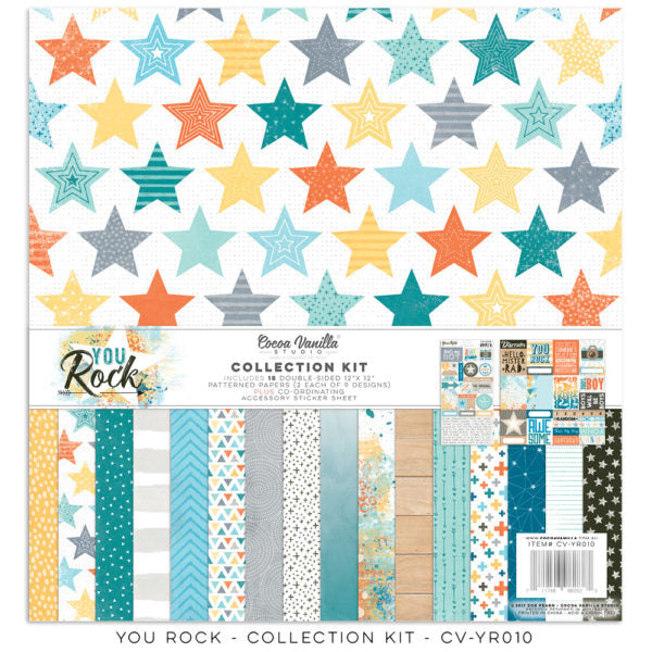 Cocoa Vanilla Studio Boys Rule Collection Kit - Scrap Of Your Life
