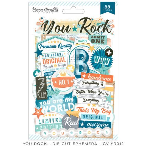 Cocoa Vanilla Designs You Rock Ephemera