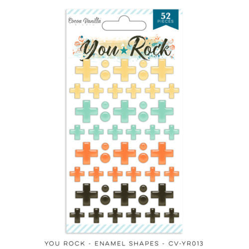 Cocoa Vanilla Designs You Rock Enamel Shapes