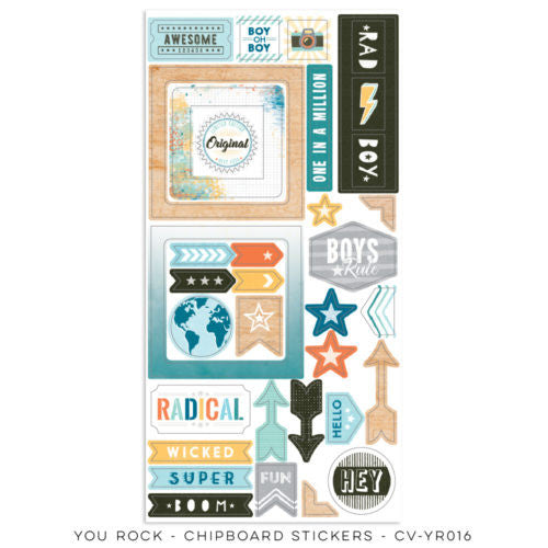 Cocoa Vanilla Designs You Rock Chipboard Accent Stickers