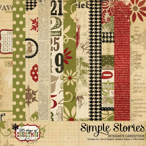 Simple Stories - 25 Days of Christmas - Strip Elements - Scrap Of Your Life