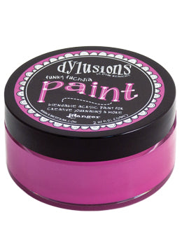 Dylusions Blendable Acrylic Paint Funky Fuschia - Scrap Of Your Life