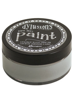 Dylusions Blendable Acrylic Paint Grey Slate - Scrap Of Your Life