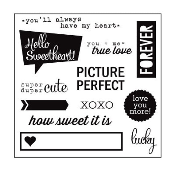 Elle's Studio Hello Sweet Acrylic Stamp Set - Scrap Of Your Life