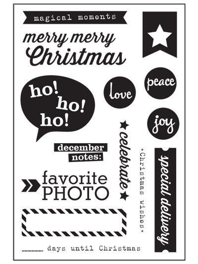 Elle's Studio Merry Christmas Acrylic Stamp Set