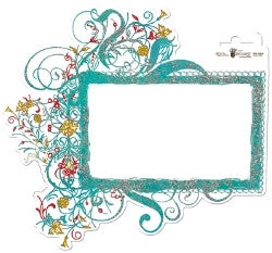 Fancy Pants Designs Glitter Cuts  Frame Scroll Garden