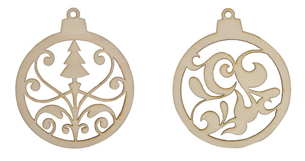 Kaisercraft Wood Flourishes Christmas Baubles