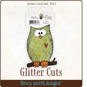 Fancy Pants Designs Glitter Cuts Owl - Scrap Of Your Life