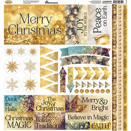 Reminisce Combo Stickers - Gold Christmas - Scrap Of Your Life