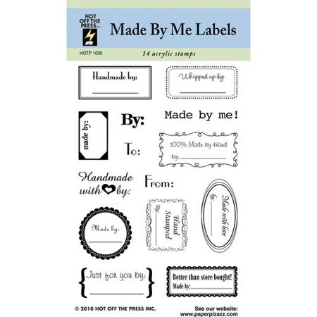 Hot Off the Press Made By Me Labels Clear Stamp Set - Scrap Of Your Life
