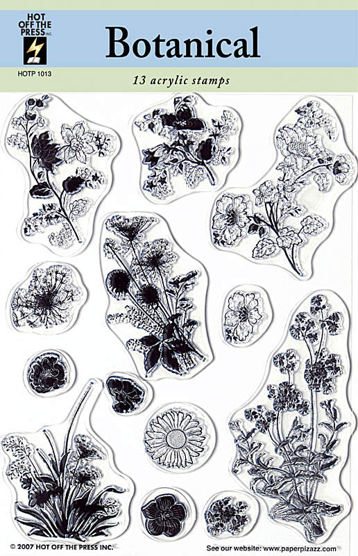 HOTP Acrylic Stamp Set Botanicals - Scrap Of Your Life