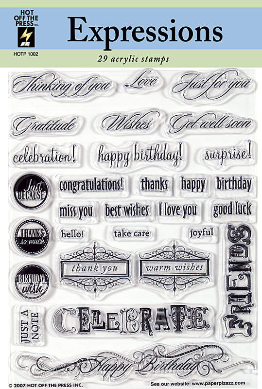 HOTP Acrylic Stamp Set Expressions