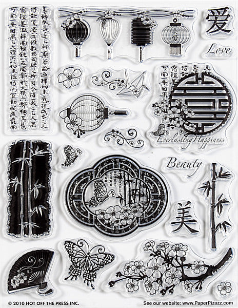HOTP Acrylic Stamp Set Far East - Scrap Of Your Life
