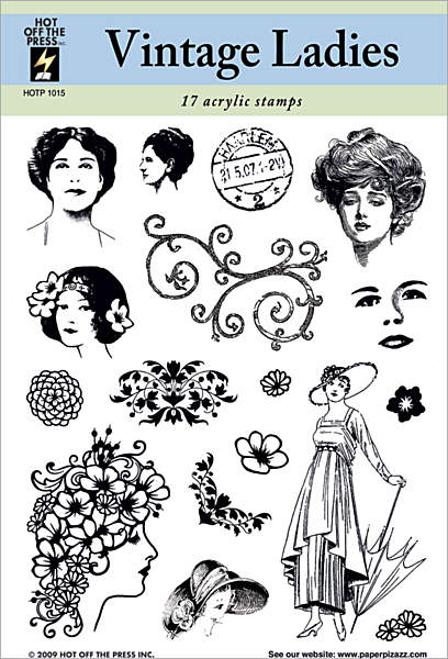 HOTP Acrylic Stamp Set Vintage Ladies - Scrap Of Your Life