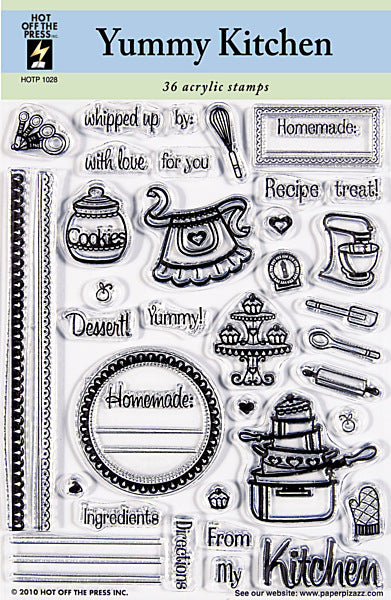 HOTP Acrylic Stamp Set Yummy Kitchen - Scrap Of Your Life