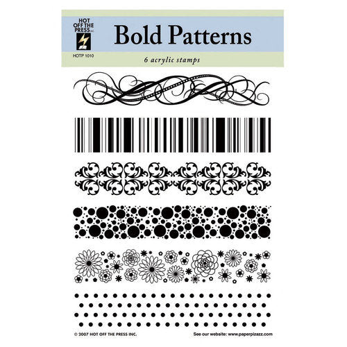 HOTP Acrylic Stamp Set Bold Patterns - Scrap Of Your Life
