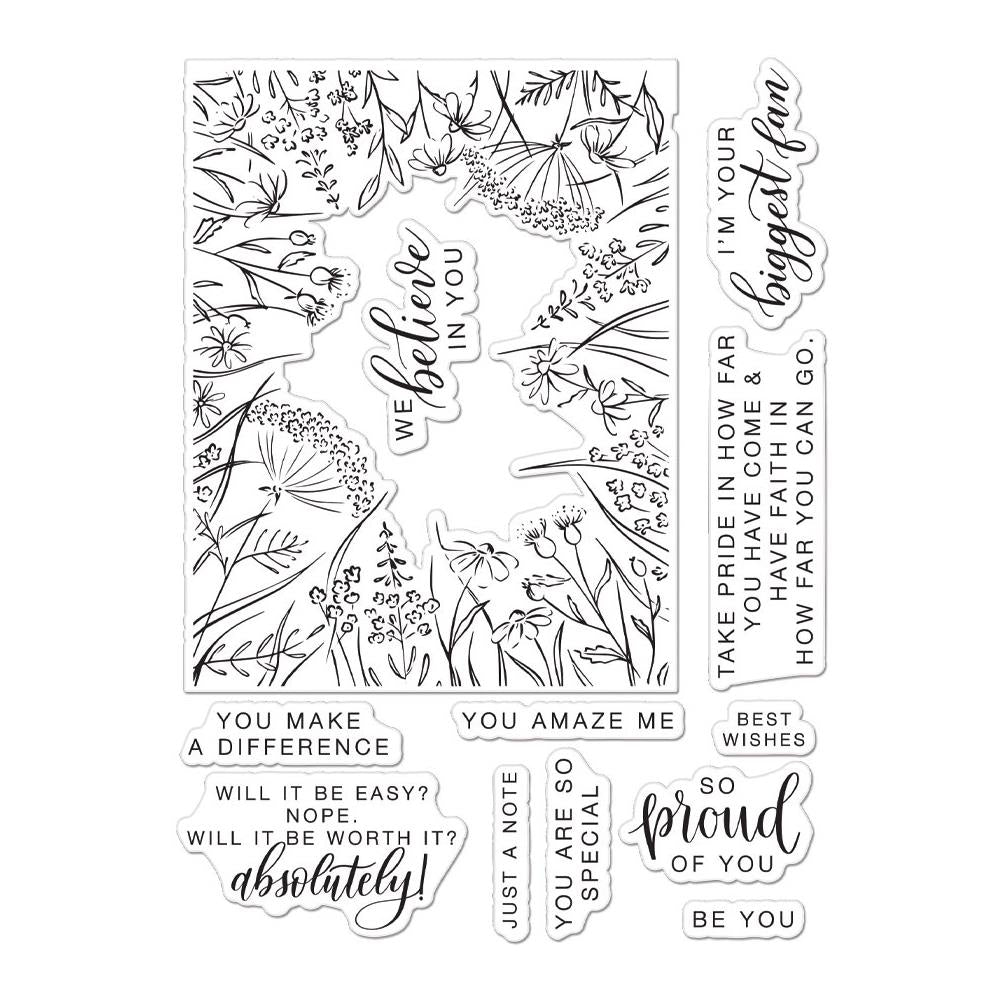 Pre-Order Hero Arts and Pink Fresh Collaboration  You Make A Difference Cling Stamp Due end Sept - Scrap Of Your Life