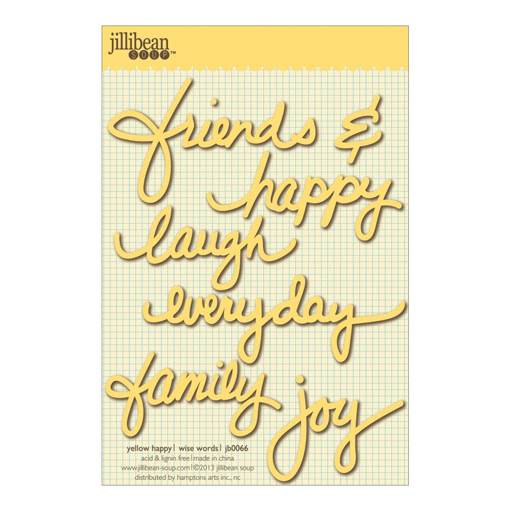 Jillibean Soup Wise Word Cardstock Stickers Yellow Happy - Scrap Of Your Life