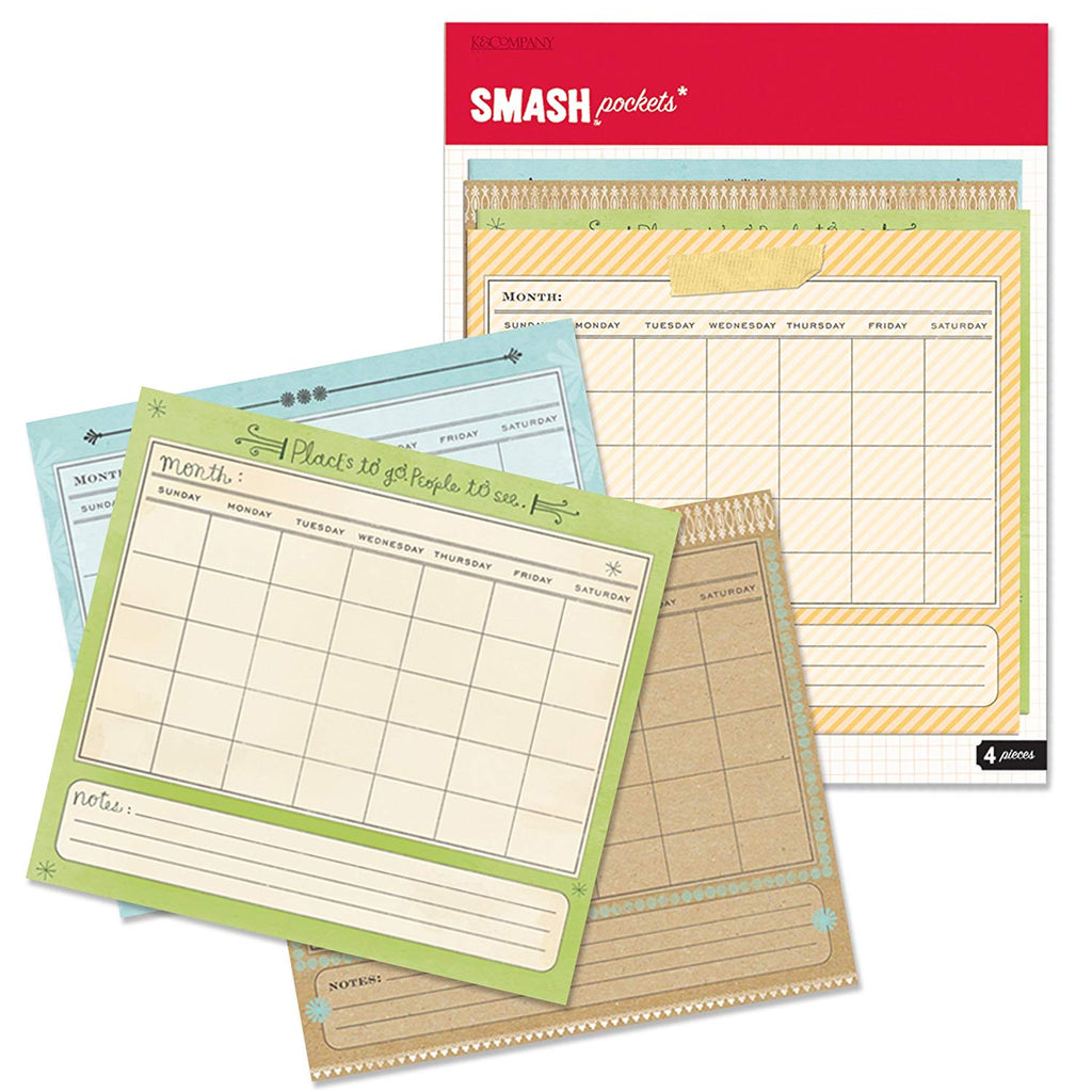 K and Company - SMASH Collection -  Pockets, Calendar ( - Scrap Of Your Life