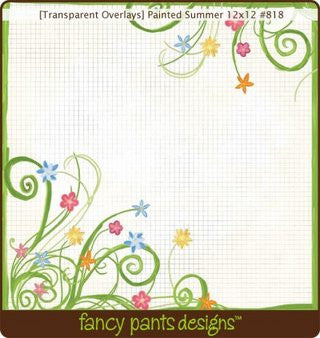 Fancy Pants Designs 12 x 12 Transparencies - Painted Summer