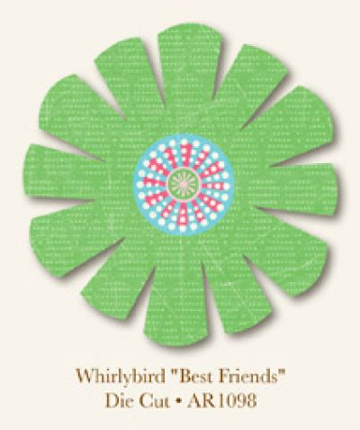 My Minds Eye - Abbey Road Whirlybird - Best Friends - Diecut