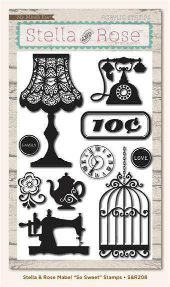 My Minds Eye Studio Rose So Sweet Acrylic Stamp Set - Scrap Of Your Life