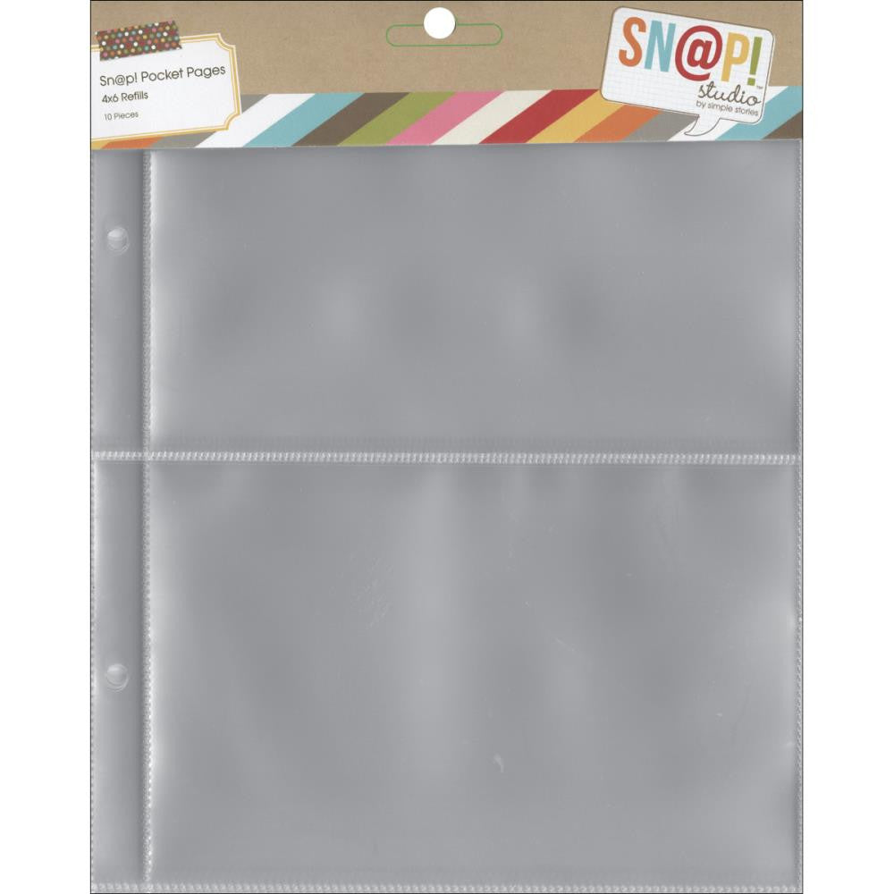 "Simple Stories SN@P! Pocket Pages for 6""X8"" Binders - (4) Size 3""x4"""