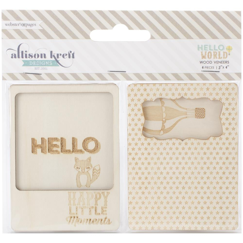 Websters Designs Alison Kreft Hello World Wood Veneer - Scrap Of Your Life